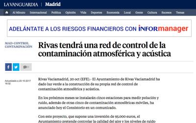 La Vanguardia: Rivas tendrá una red de control de la contaminación atmosférica y acústica