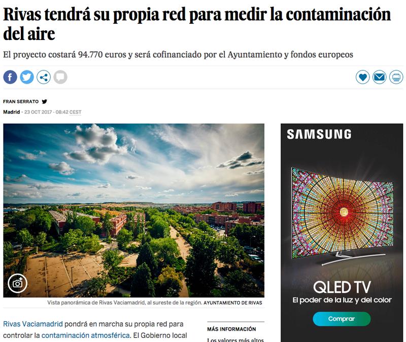 El País: Rivas tendrá su propia red para medir la contaminación del aire