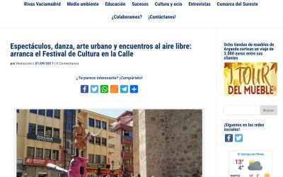 DiariodeRivas.es: Espectáculos, danza, arte urbano y encuentros al aire libre: arranca el Festival de Cultura en la Calle