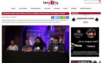 """Tercerainformacion.es: El Festiclown calienta motores este fin de semana en Móstoles y Rivas para llevar """"circo rebelde"""" a Palestina"""