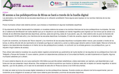 EstedeMadrid.com: El acceso a los polideportivos de Rivas se hará a través de la huella digital