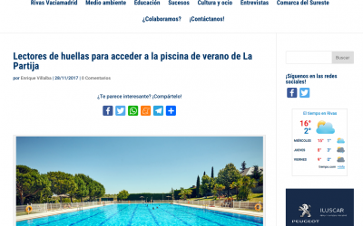 Diario de Rivas: Lectores de huellas para acceder a la piscina de verano de La Partija