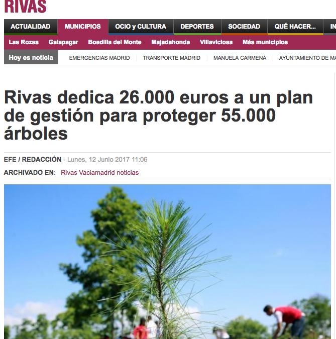 Madridactual.es: Rivas dedica 26.000 euros a un plan de gestión para proteger 55.000 árboles