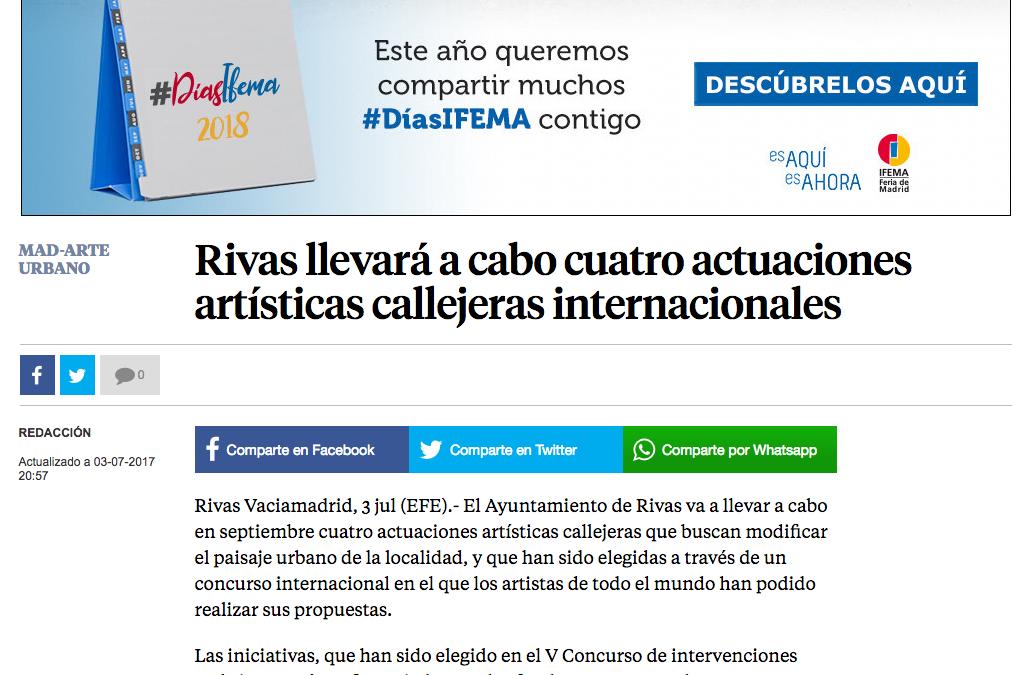 La Vanguardia: Rivas llevará a cabo cuatro actuaciones artísticas callejeras internacionales